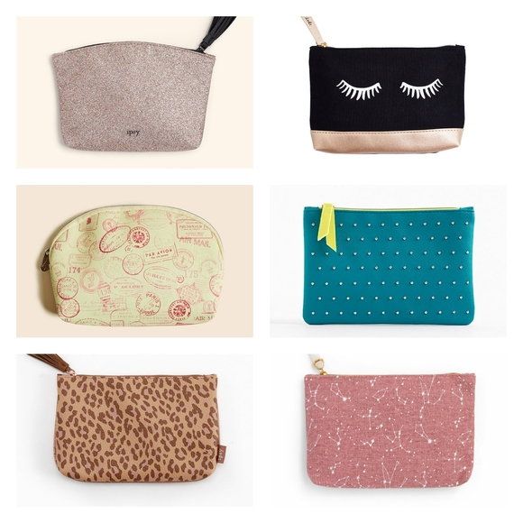 Any 3 for $18 - Makeup bags